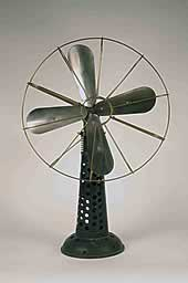 A gas powered fan